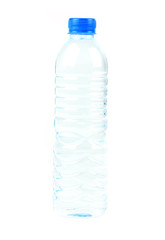 Drink water in plastic bottle