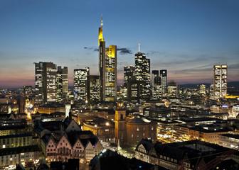 Fototapete - Skyline Frankfurt
