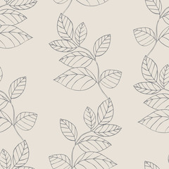 Design floral element. Vector illustration. Seamless.