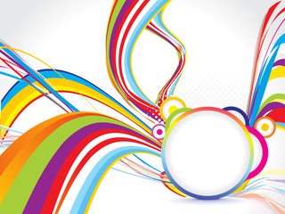 abstract colorful background with circle