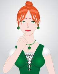 Irish Clover Woman