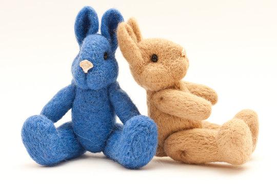 Beautiful vintage plush bunny toy