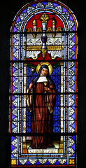 Foto op Plexiglas Stained vitrail Sainte Claire