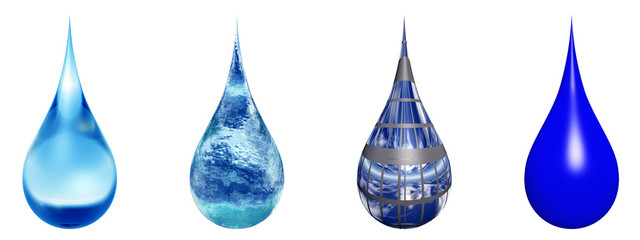 High resolution set of liquid drops