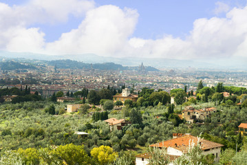 view of Florence from Settignano Italy