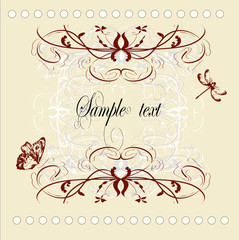 vintage decorative vector frame with place for text or message