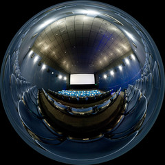 Spherical panorama of cinema hall