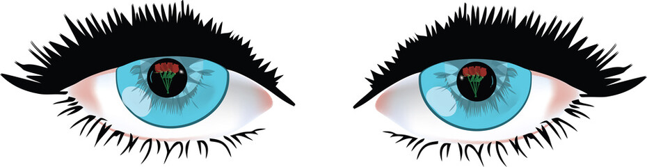 occhi con rose