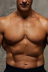 Man's muscular body.
