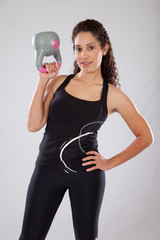 woman smiling about exercise,