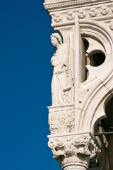 Architecture detail of Doges Palace in Venice