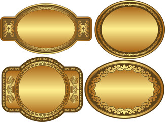 oval golden backgrounds