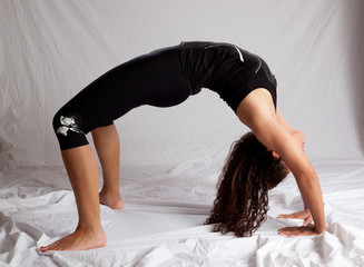woman in a back bend