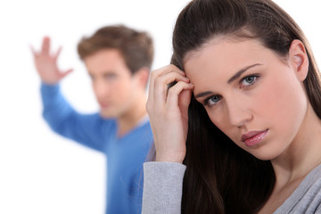 Young couple having argument