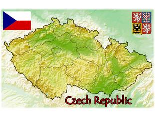 czech republic map flag emblem
