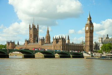 House of Parliament with Big Ban tower in London, UK