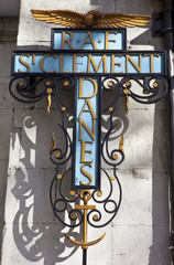 St Clement Danes Church Sign (Central Church to the RAF)