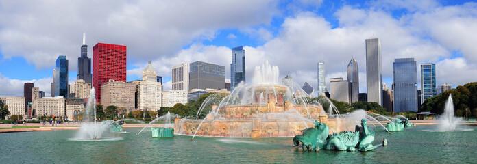 Wall Mural - Chicago  Buckingham fountain