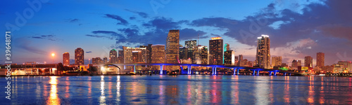 Fototapete Miami night scene