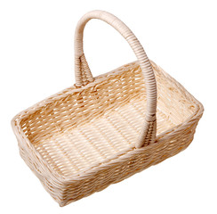 A small basket isolated on white background.