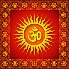 Spiritual Om Sign Background