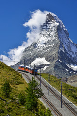 Wall Mural - Matterhorn railway from Zermatt to Gornergrat. Switzerland