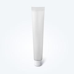 Blank thin cosmetic tube
