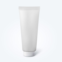 Blank thin cosmetic tube