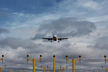 Passenger plane on final approach