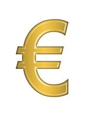 Euro sign on white background