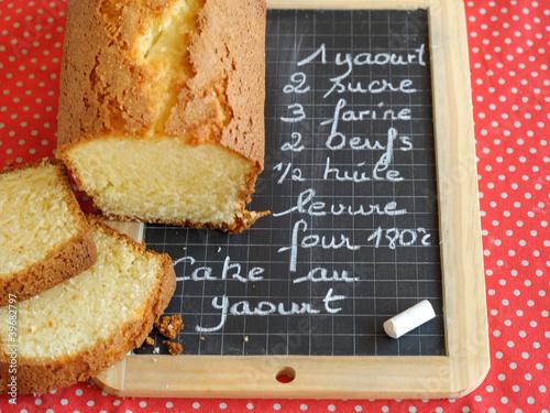 recette du cake au yaourt photo libre de droits sur la. Black Bedroom Furniture Sets. Home Design Ideas