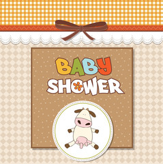 delicate girl shower card