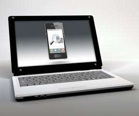 """Mobile Thin Client / Netbook """"QR Code"""""""