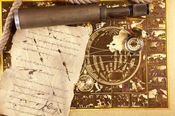 Vintage Navigation equipment and letter