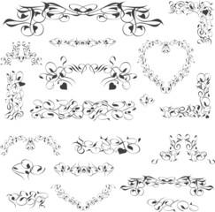 flower vintage royal design element isolated on white. Vector