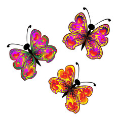 abstract bright butterfly cartoon