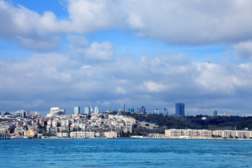 cityscape image in Istanbul Turkey in day time