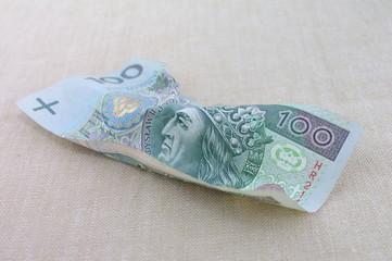 Fototapeta Zniszczony banknot obraz