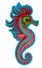 Colorful seahorse