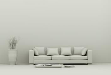Modell - Sofa mit Vase