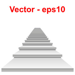 Vector conceptual 3D white stair