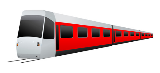 Train. Vector illustration on white background