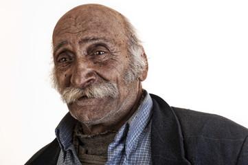 old arabian lebanese man with big mustache