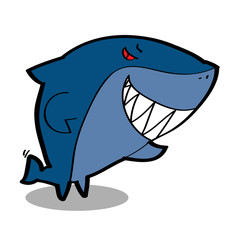 Cool cartoon shark