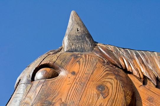Holzpferd Detail