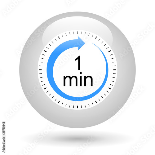 bouton icône minuterie 1 minute stock photo and royalty free