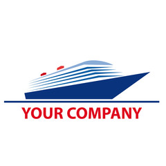 Logo cruise ship # Vector