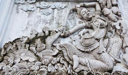 Stucco Traditional Thai women.