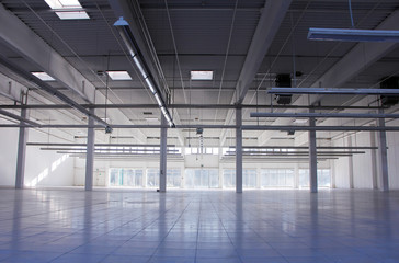 empty industrial hall