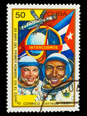 CUBA - CIRCA 1981: A stamp printed in CUBA, 20th anniversary fir